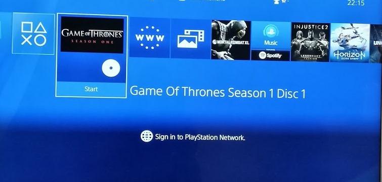urzeala tronurilor vazut pe playstation 4