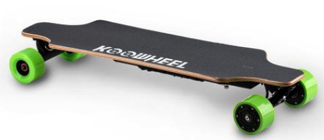 un skateboard electric bun