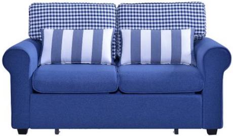 o canapea albastra moderna pat