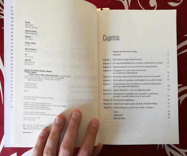 avantaje citire carte 12 reguli de viata peterson