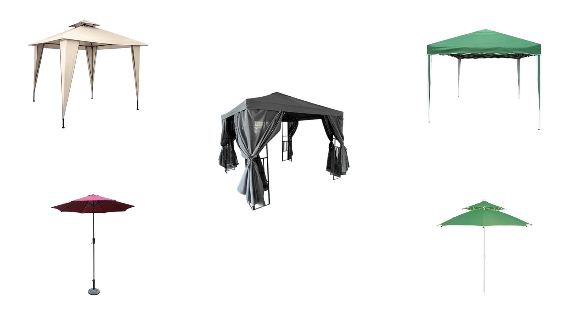 Top 5 umbrele si pavilioane de gradina, terasa sau curte
